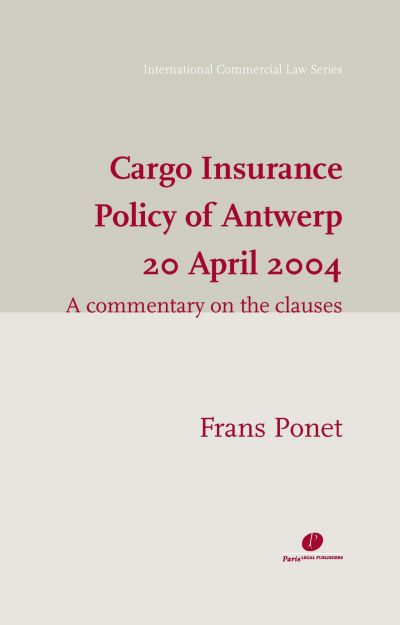 Cargo Insurance Policy of Antwerp 20 April 2004