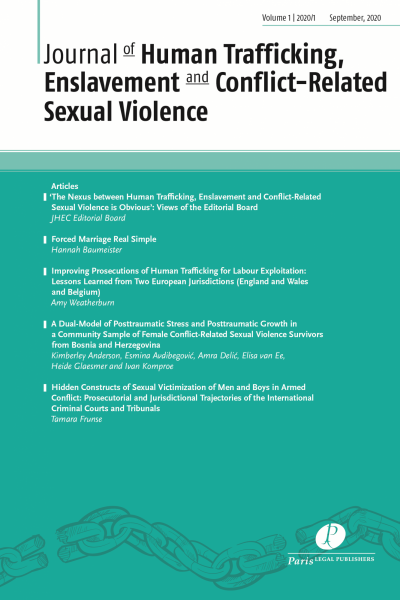Journal of Human Trafficking, Enslavement and Conflict-Related Sexual Violence (JHEC)