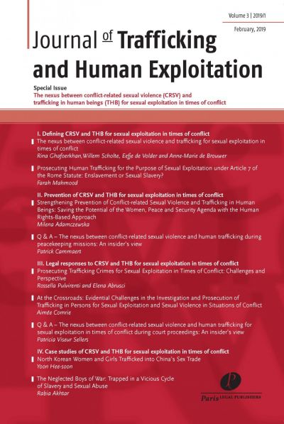 Journal of Trafficking and Human Exploitation (JTHE)
