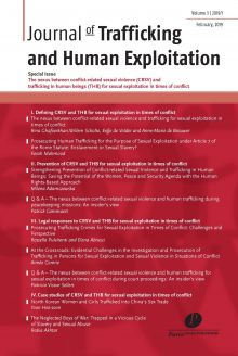 The nexus between conflict-related sexual violence (CRSV) and trafficking in human beings (THB) for sexual exploitation in times of conflict