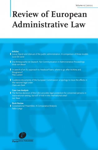 Aims to cover all aspects of European administrative law